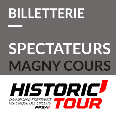 Billetterie spectateurs Historic Tour Magny-Cours 2018 ref:70600201S1