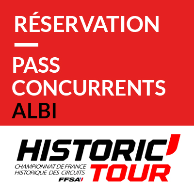 5. Pass Supplémentaires Concurrents // Pass Competitors : Historic Tour Albi 2019 ref:70600021S1