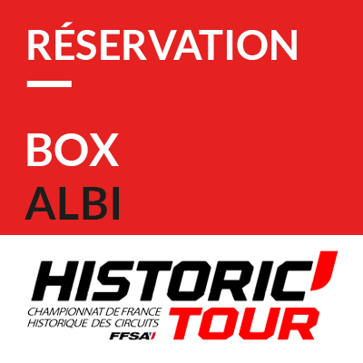 5. Réservation Box // Booking pit garage Historic Tour Albi 2019 ref: 70600041S1