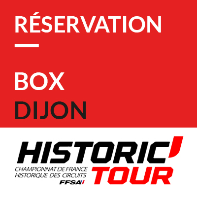 2. Réservation Box // Booking pit garage Historic Tour Dijon 2020 ref: 70600053S1