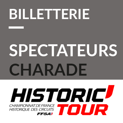 3. Billetterie spectateurs Historic Tour Charade 2020 ref:70600023S1